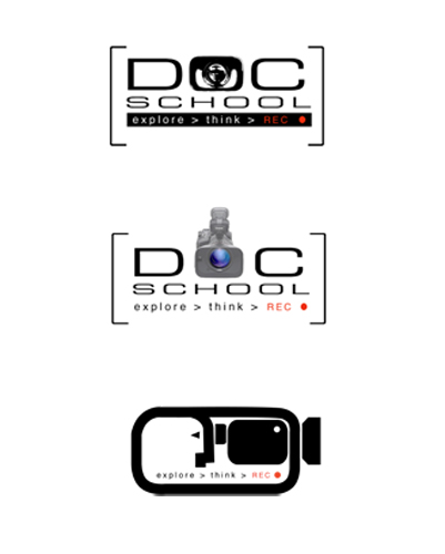 Logos for the Documentary Foundation's Doc School for high school students.