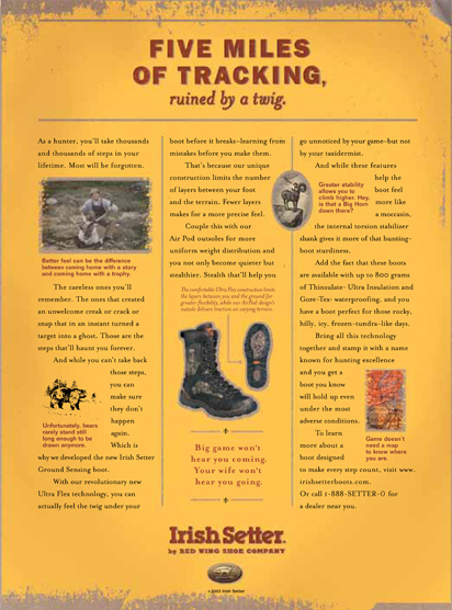 Irish Setter Ad, RedWing Shoes
