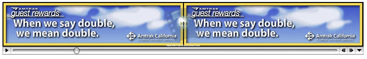 When We Say Double Web Banner, Amtrak California
