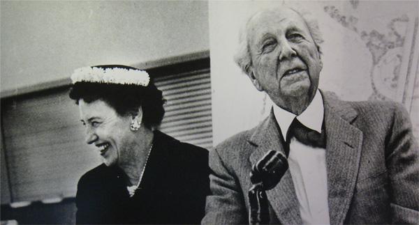 Marin civic leader Vera Shultz and Frank Lloyd Wright.