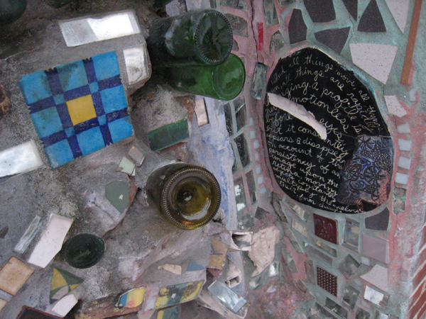 Close up of mosaics, Isaiah Zagar's Magic Gardens, Philadelphia.