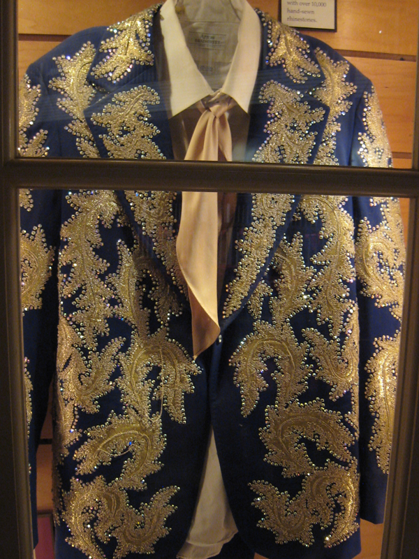 Blue suit with sparkles at Buck Owens' Crystal Palace, Bakersfield.