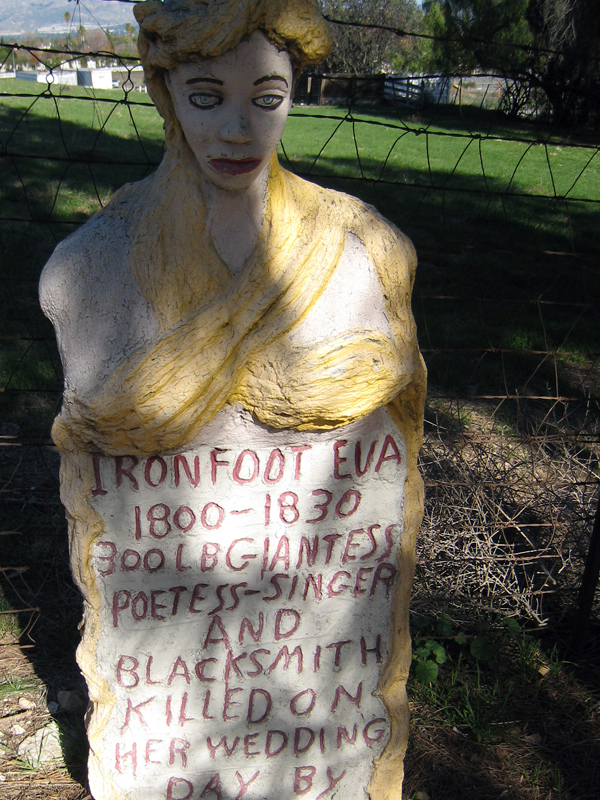 Iron Foot Ella's gravestone. John Ehn's Trapper's Lodge.