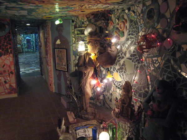 Lower level interior, Isaiah Zagar's Magic Gardens, Philadelphia.