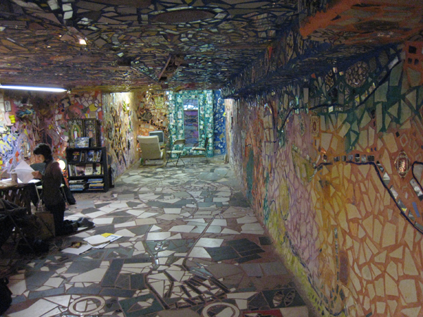 Deeper into the lower level, Isaiah Zagar's Magic Gardens, Philadelphia.