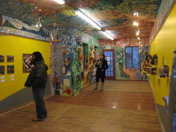 Just one of several galleries at Isaiah Zagar's Magic Gardens, Philadelphia.