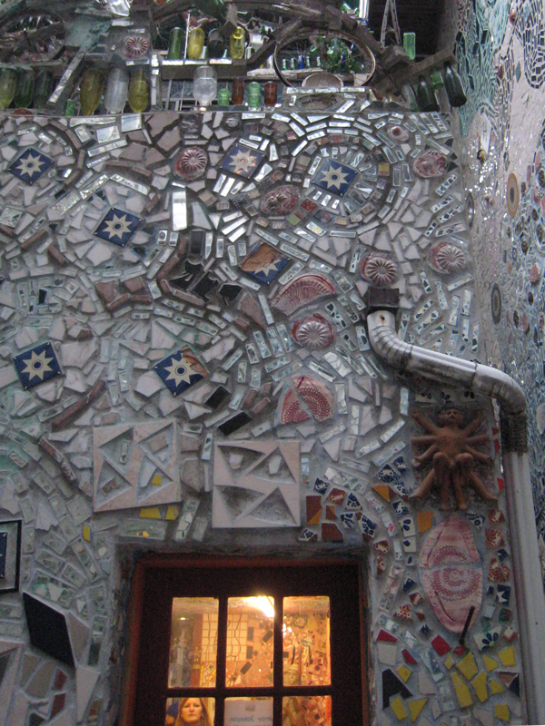 More wall mosaics from Isaiah Zagar's Magic Gardens, Philadelphia.
