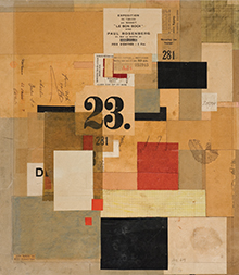 Kurt Schwitters collage: Mz 601, 1923; paint and paper on cardboard; 17 × 15
