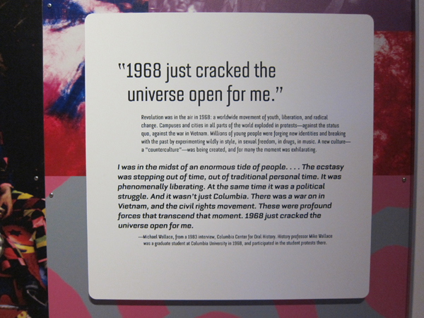 """""""1968 just cracked the universe open for me."""""""