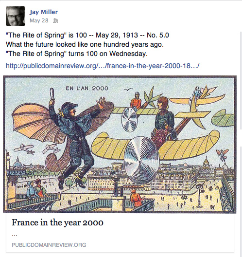What the 21st century looked like in vintage French postcards