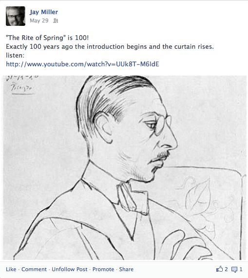 Stravinsky's portrait by Picasso
