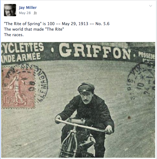 1913 and Velodrome motorcycle races were all the rage.