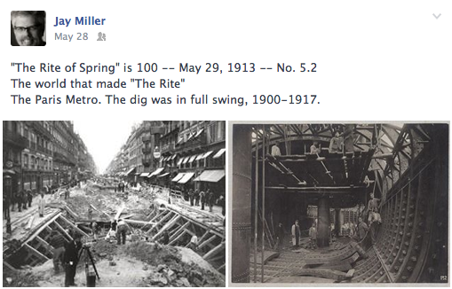 The Paris Metro dig, 1900-1917.