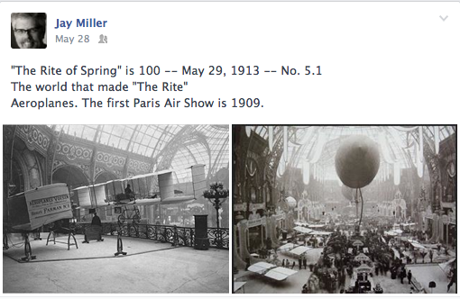 The first Paris Air Show in 1909